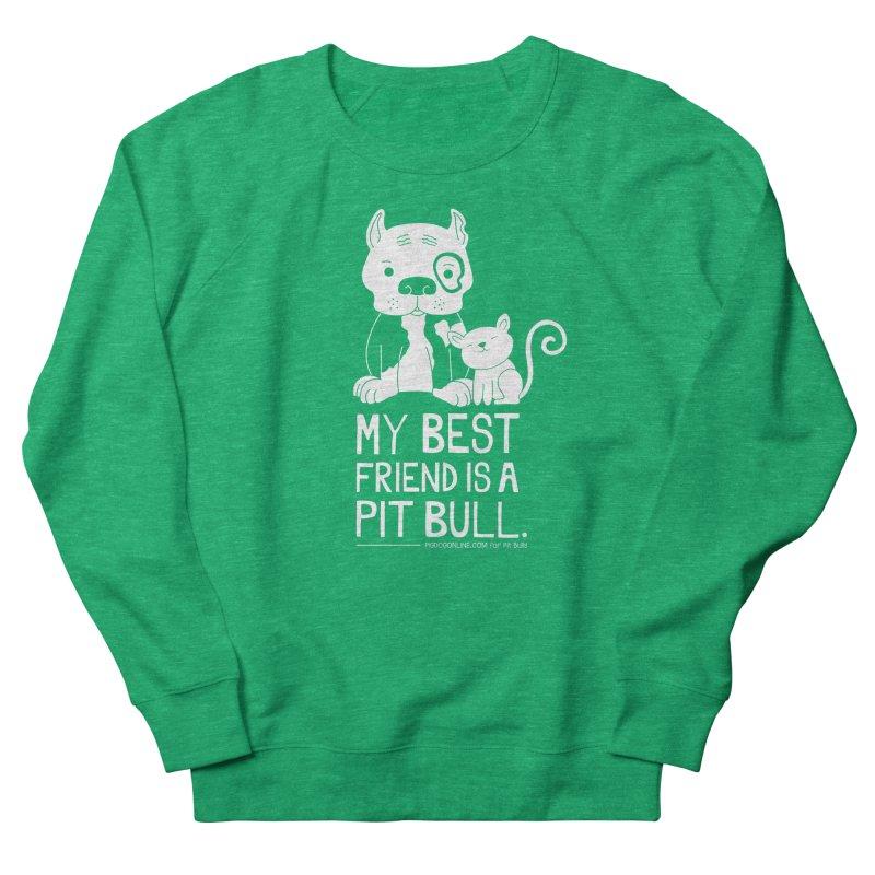 Pittie and Kitty Best Friend Women's French Terry Sweatshirt by Pigdog