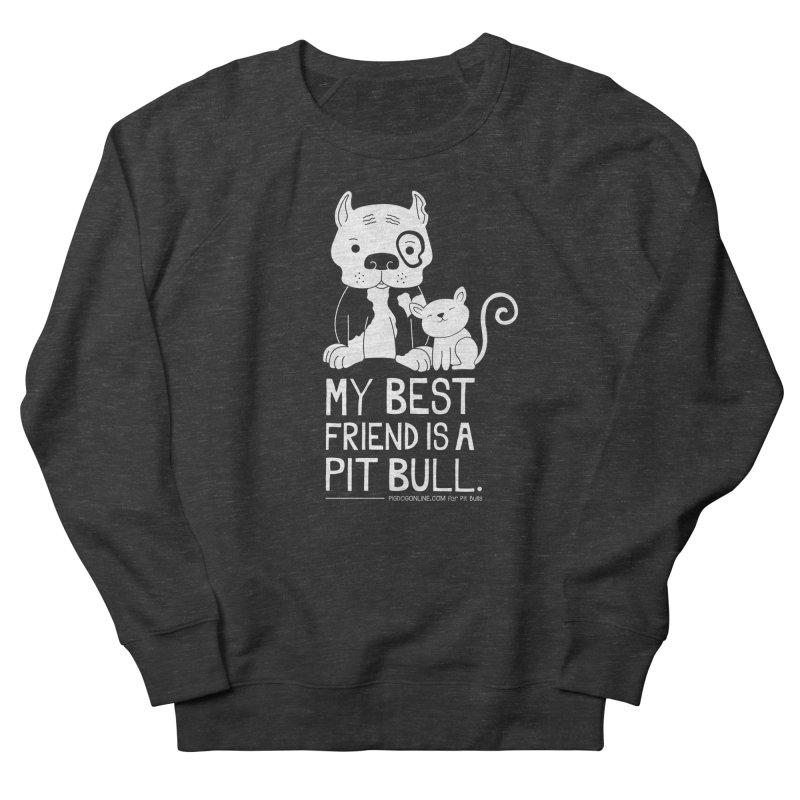 Pittie and Kitty Best Friend Men's French Terry Sweatshirt by Pigdog