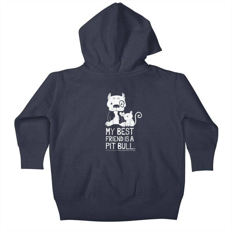 Pittie and Kitty Best Friend Kids Baby Zip-Up Hoody by Pigdog