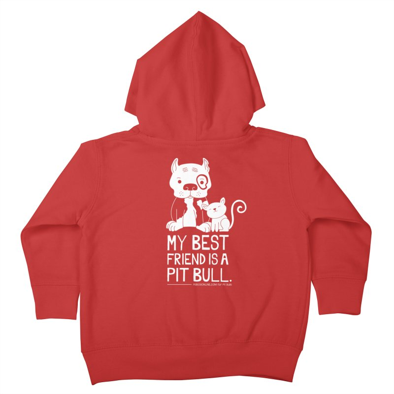 Pittie and Kitty Best Friend Kids Toddler Zip-Up Hoody by Pigdog