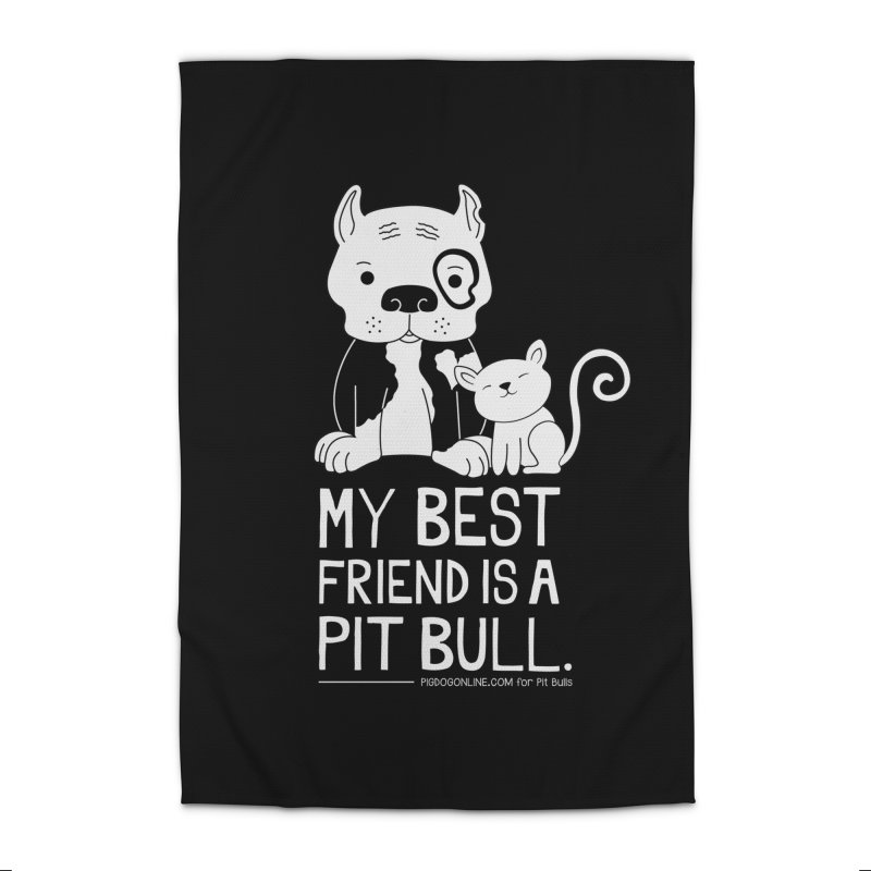 Pittie and Kitty Best Friend Home Rug by Pigdog