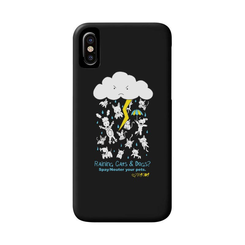 Raining Cats And Dogs Accessories Phone Case by Pigdog