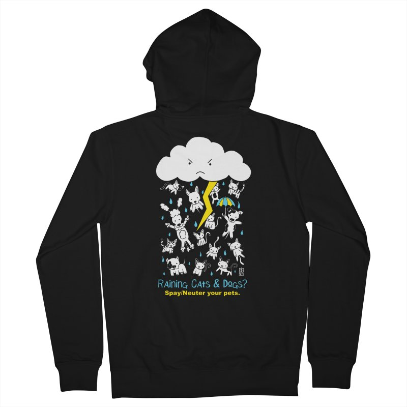 Raining Cats And Dogs Men's Zip-Up Hoody by Pigdog