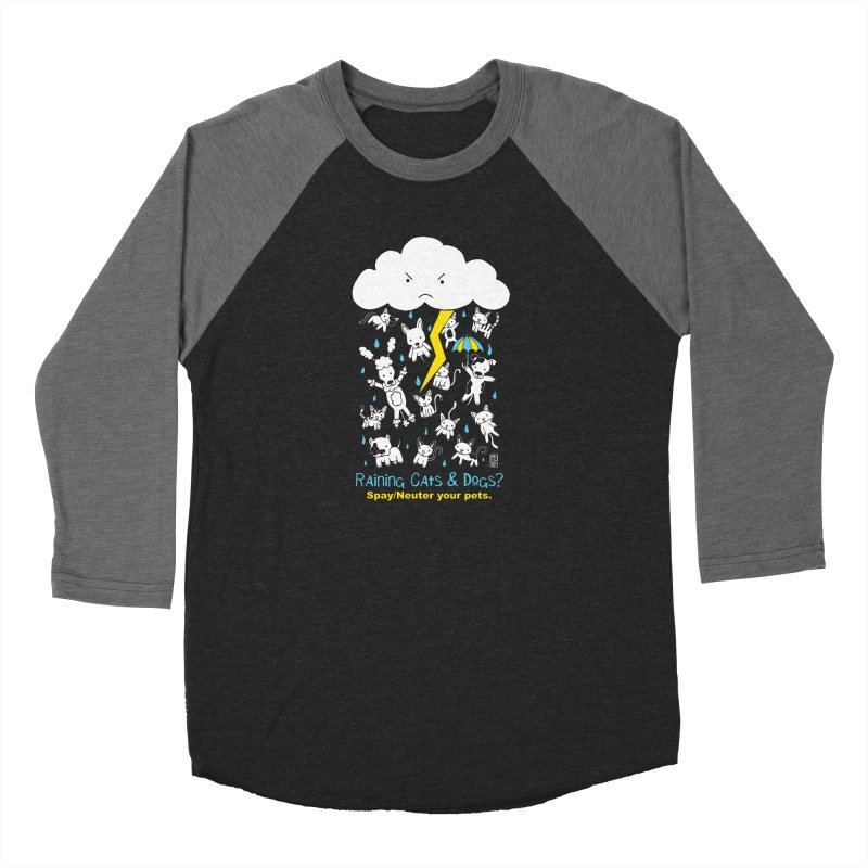Raining Cats And Dogs Women's Baseball Triblend Longsleeve T-Shirt by Pigdog