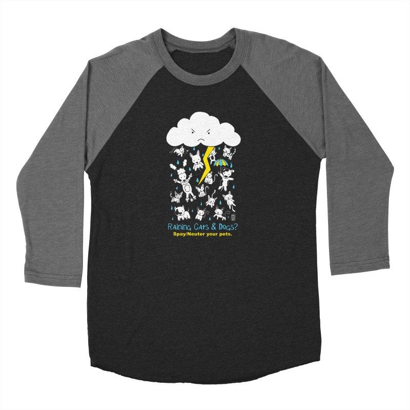 Raining Cats And Dogs Men's Baseball Triblend Longsleeve T-Shirt by Pigdog