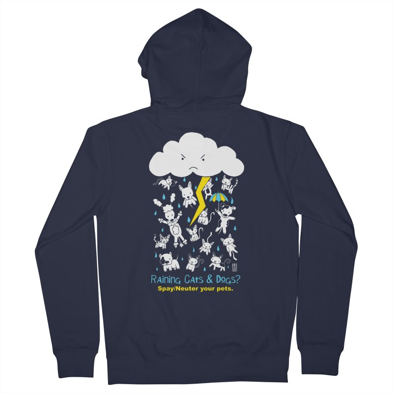 Raining Cats And Dogs Women's Zip-Up Hoody by Pigdog