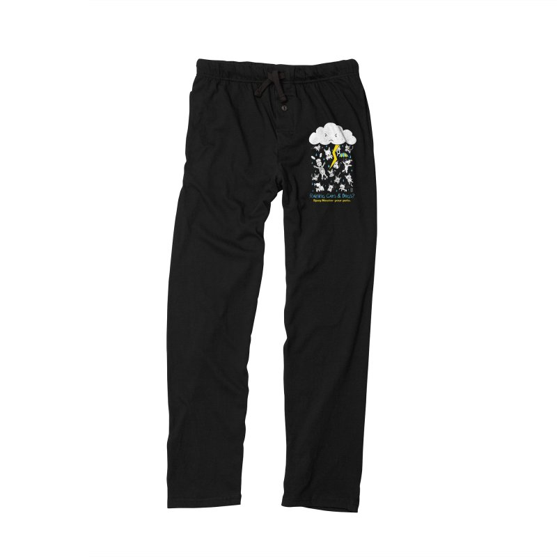 Raining Cats And Dogs Men's Lounge Pants by Pigdog