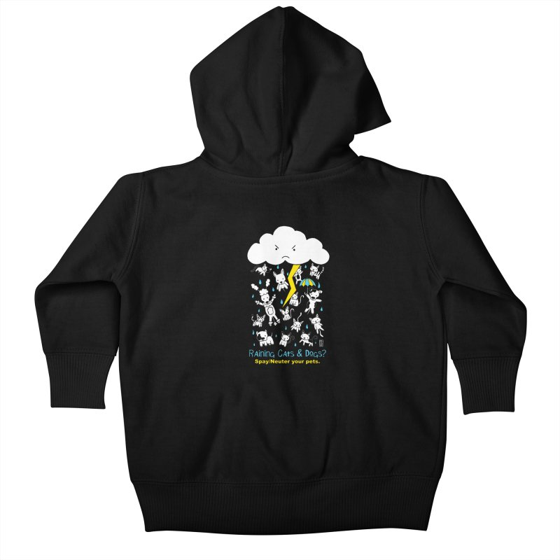 Raining Cats And Dogs Kids Baby Zip-Up Hoody by Pigdog