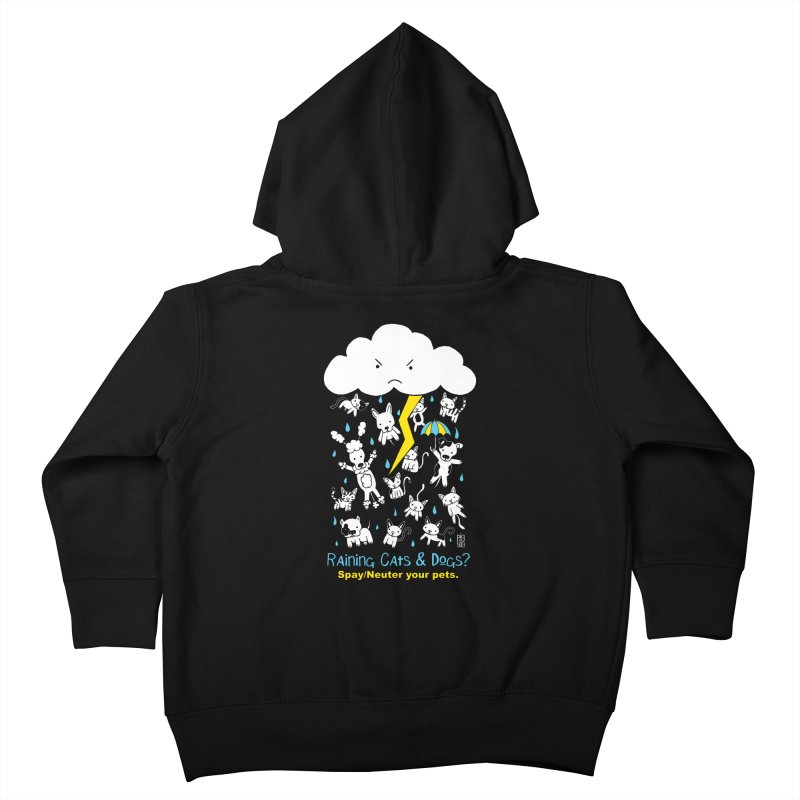 Raining Cats And Dogs Kids Toddler Zip-Up Hoody by Pigdog