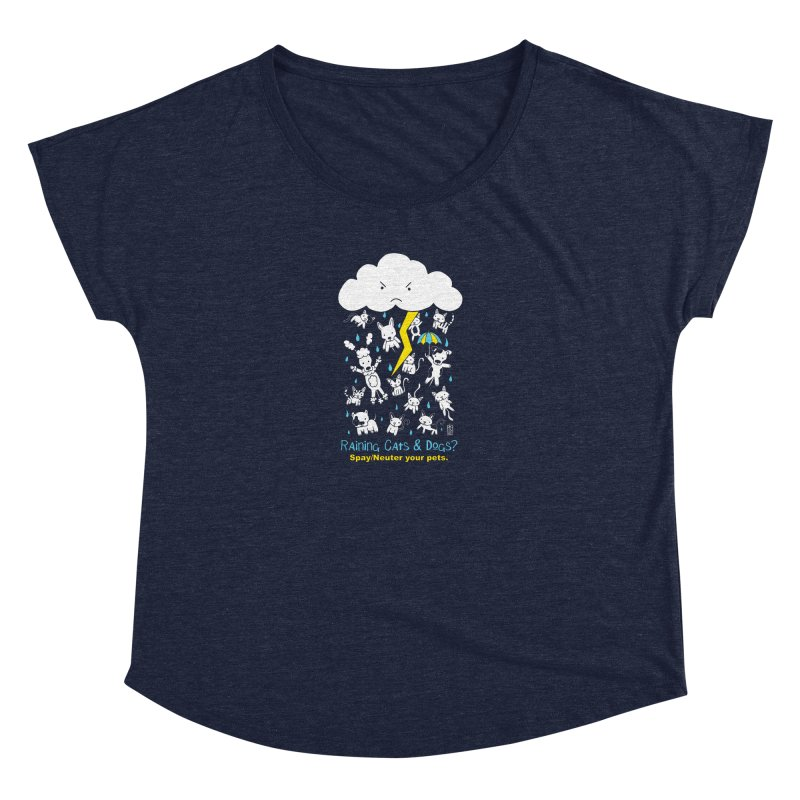 Raining Cats And Dogs Women's Scoop Neck by Pigdog