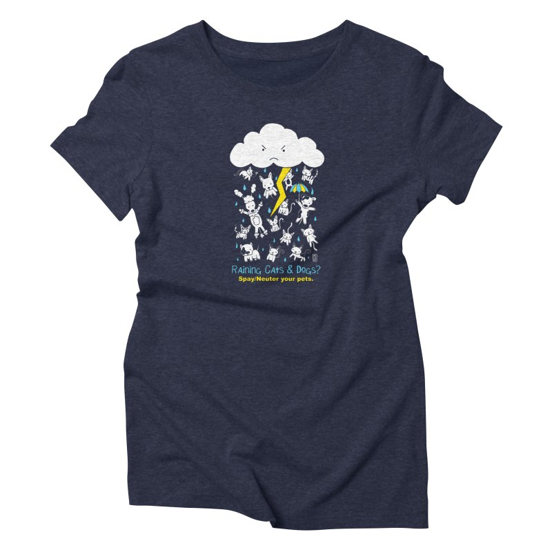 Raining Cats And Dogs Women's T-Shirt by Pigdog