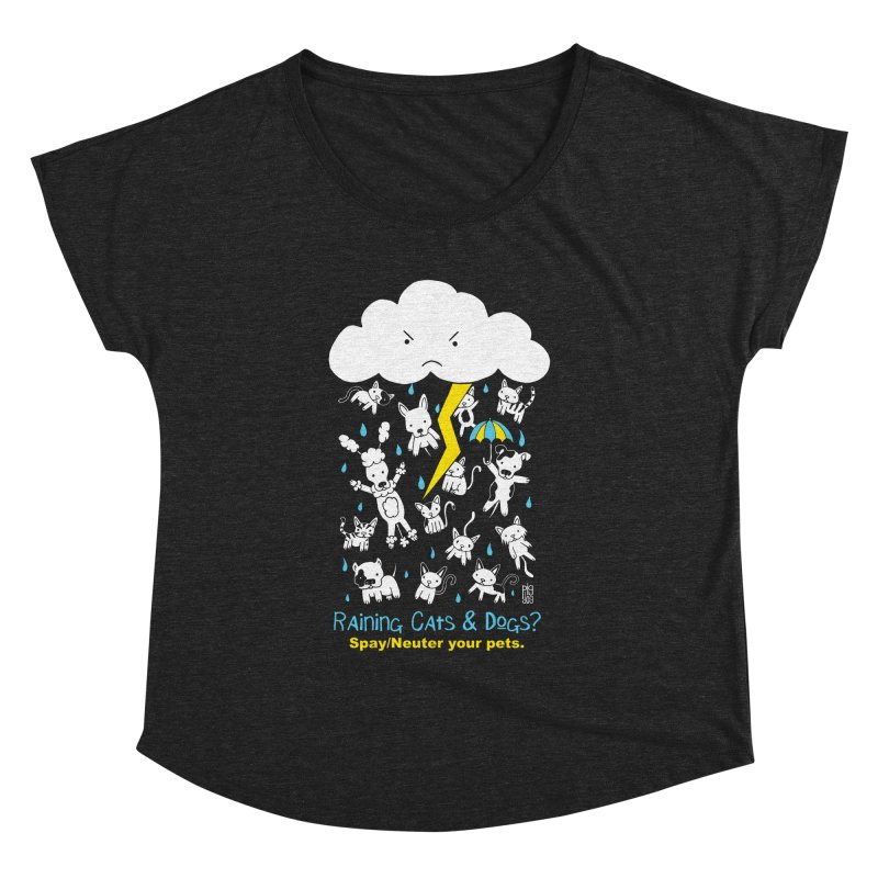 Raining Cats And Dogs Women's Dolman by Pigdog