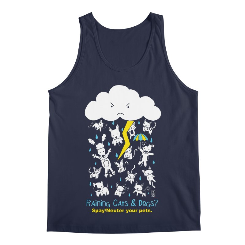 Raining Cats And Dogs Men's Regular Tank by Pigdog