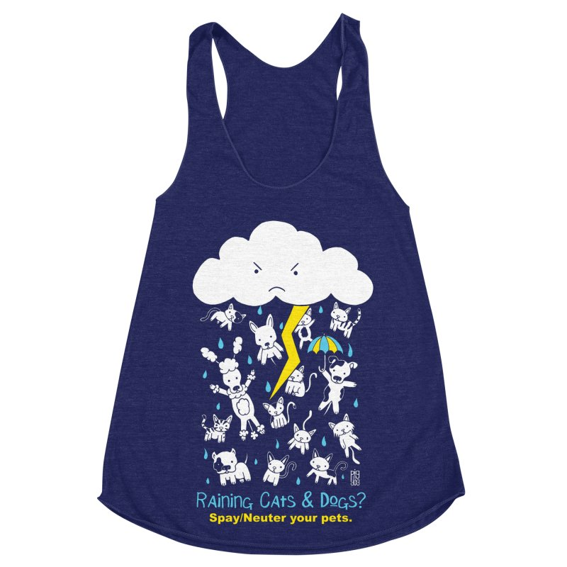 Raining Cats And Dogs Women's Tank by Pigdog