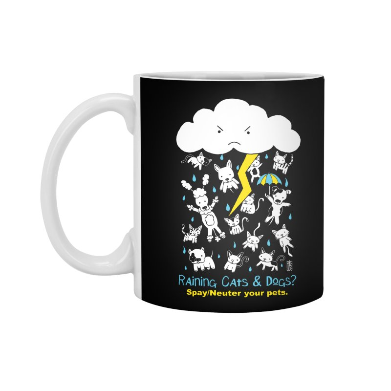 Raining Cats And Dogs Accessories Mug by Pigdog