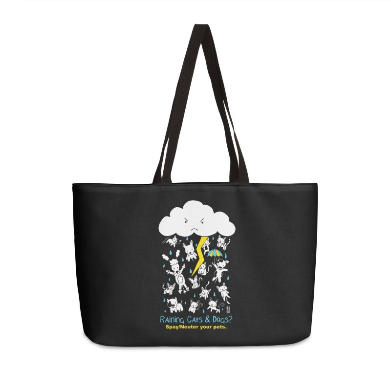 Raining Cats And Dogs Accessories Weekender Bag Bag by Pigdog