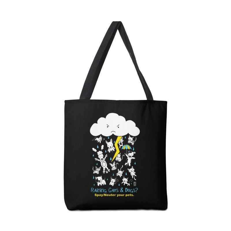 Raining Cats And Dogs Accessories Tote Bag Bag by Pigdog
