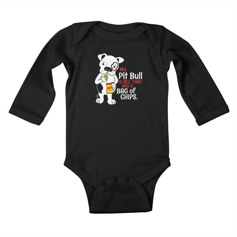 Bag of Chips Kids Baby Longsleeve Bodysuit by Pigdog