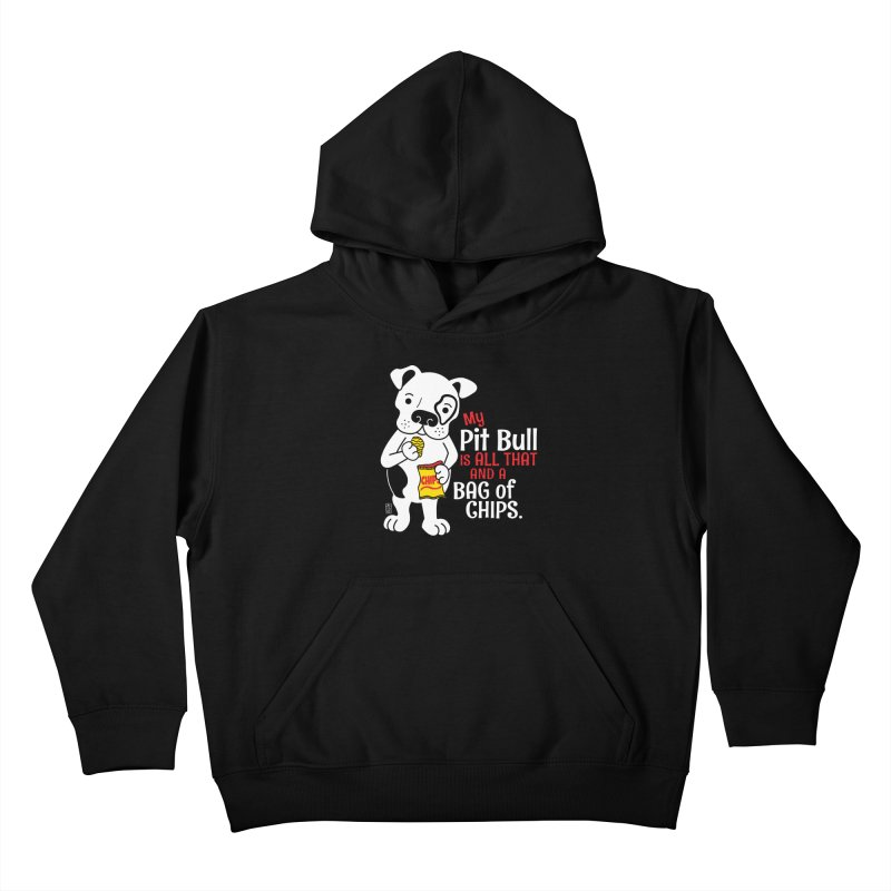 Bag of Chips Kids Pullover Hoody by Pigdog