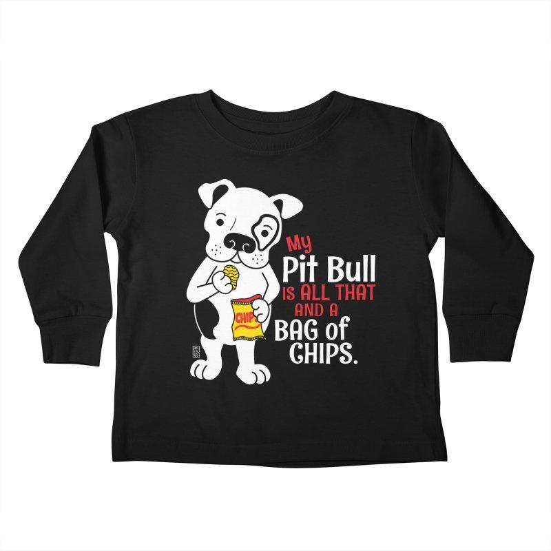 Bag of Chips Kids Toddler Longsleeve T-Shirt by Pigdog