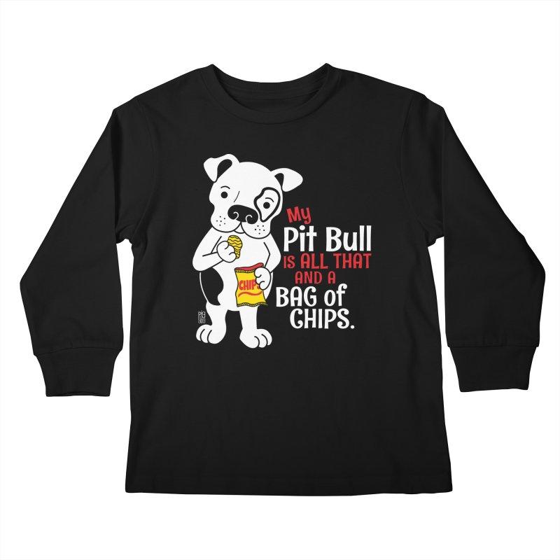 Bag of Chips Kids Longsleeve T-Shirt by Pigdog