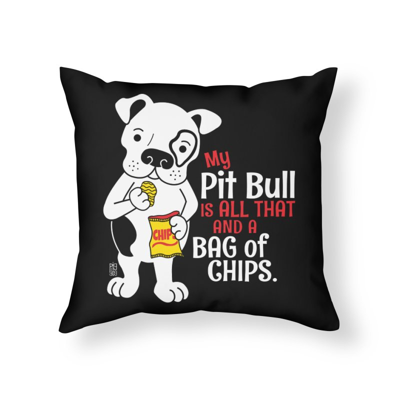 Bag of Chips Home Throw Pillow by Pigdog