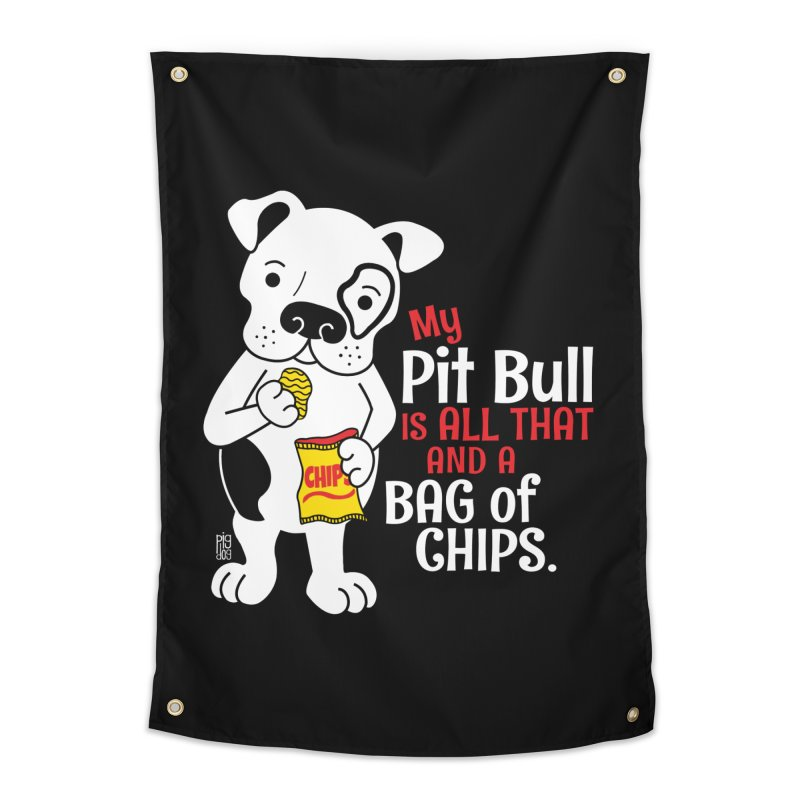 Bag of Chips Home Tapestry by Pigdog