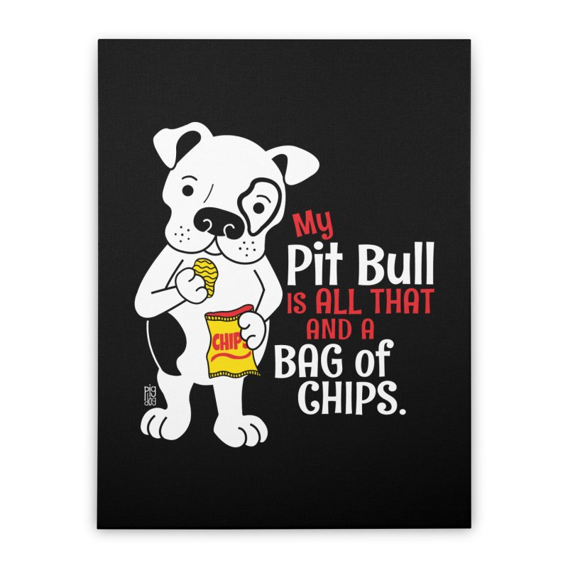 Bag of Chips Home Stretched Canvas by Pigdog