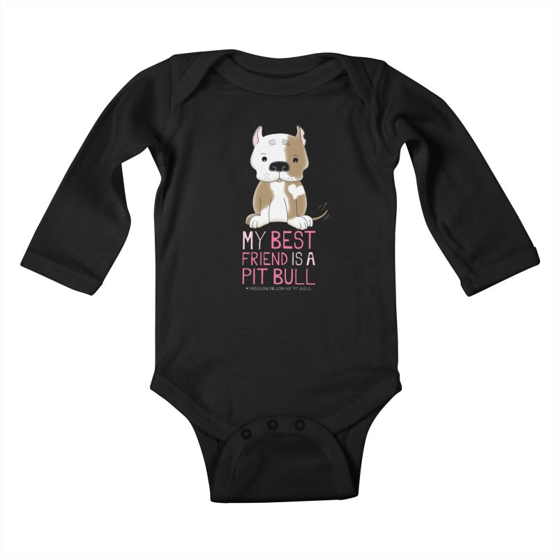 Best Friend Kids Baby Longsleeve Bodysuit by Pigdog