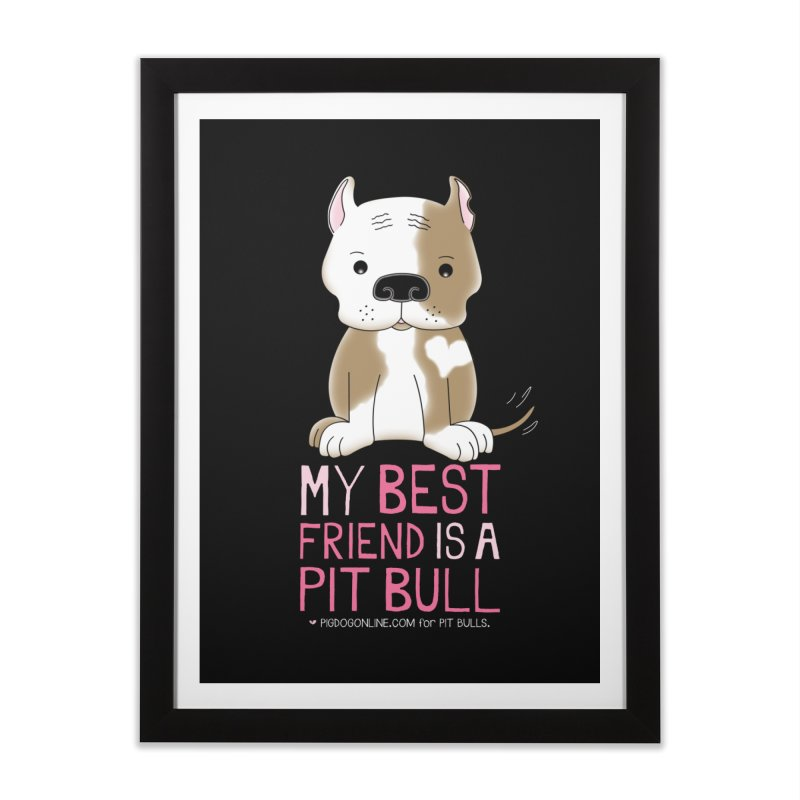 Best Friend Home Framed Fine Art Print by Pigdog