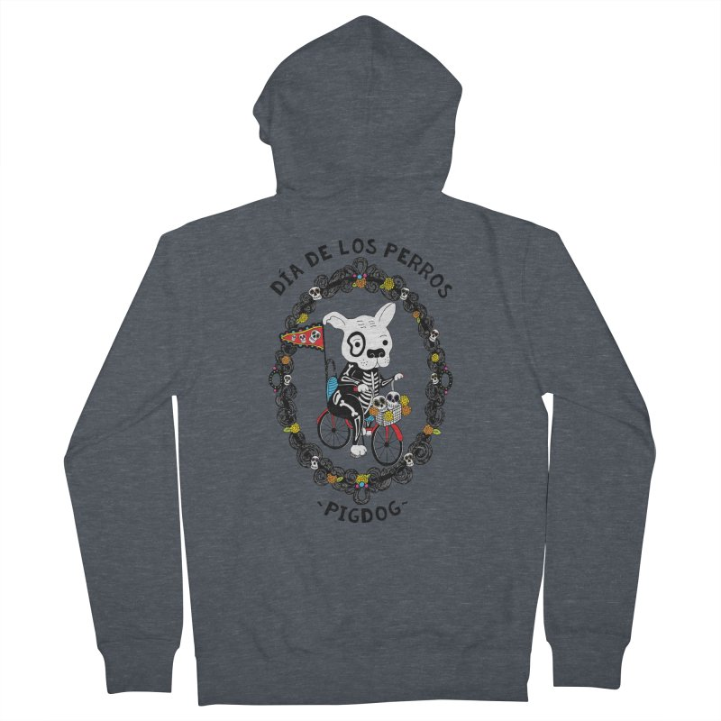 Day of the Dogs Men's French Terry Zip-Up Hoody by Pigdog