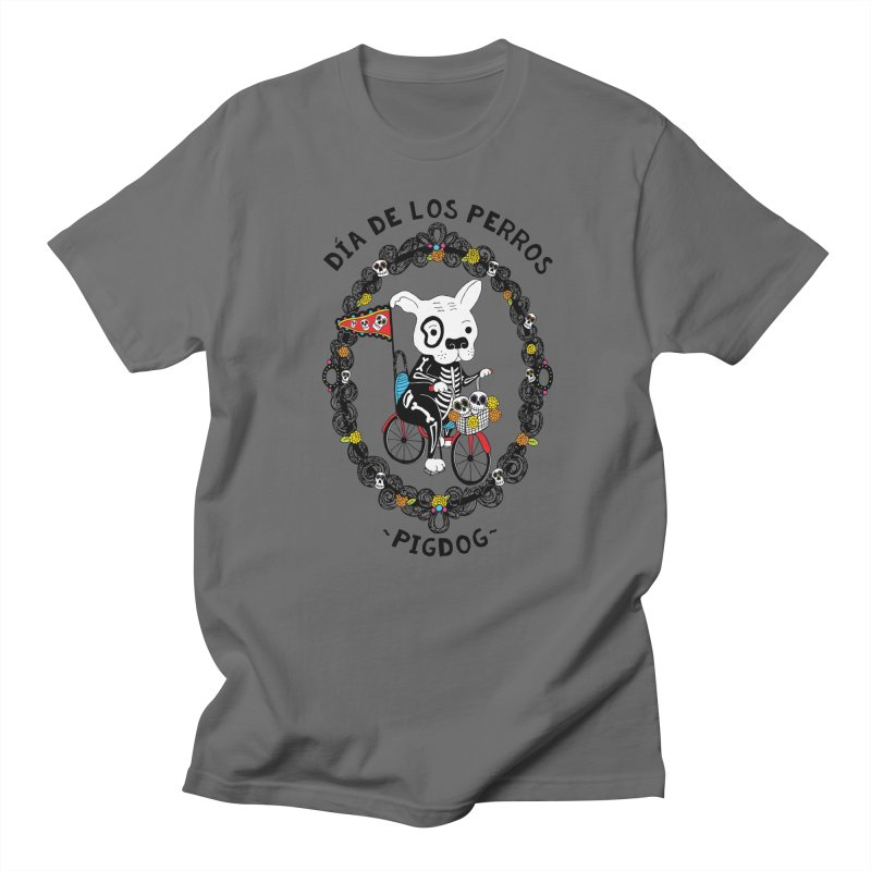 Day of the Dogs Men's T-Shirt by Pigdog