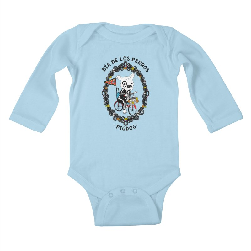 Day of the Dogs Kids Baby Longsleeve Bodysuit by Pigdog