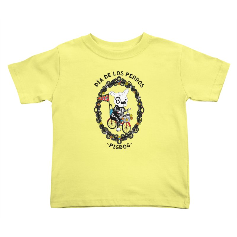 Day of the Dogs Kids Toddler T-Shirt by Pigdog