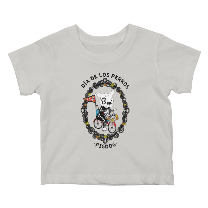 Day of the Dogs Kids Baby T-Shirt by Pigdog
