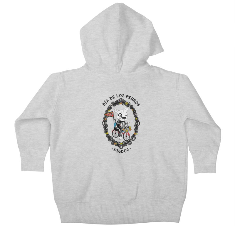 Day of the Dogs Kids Baby Zip-Up Hoody by Pigdog