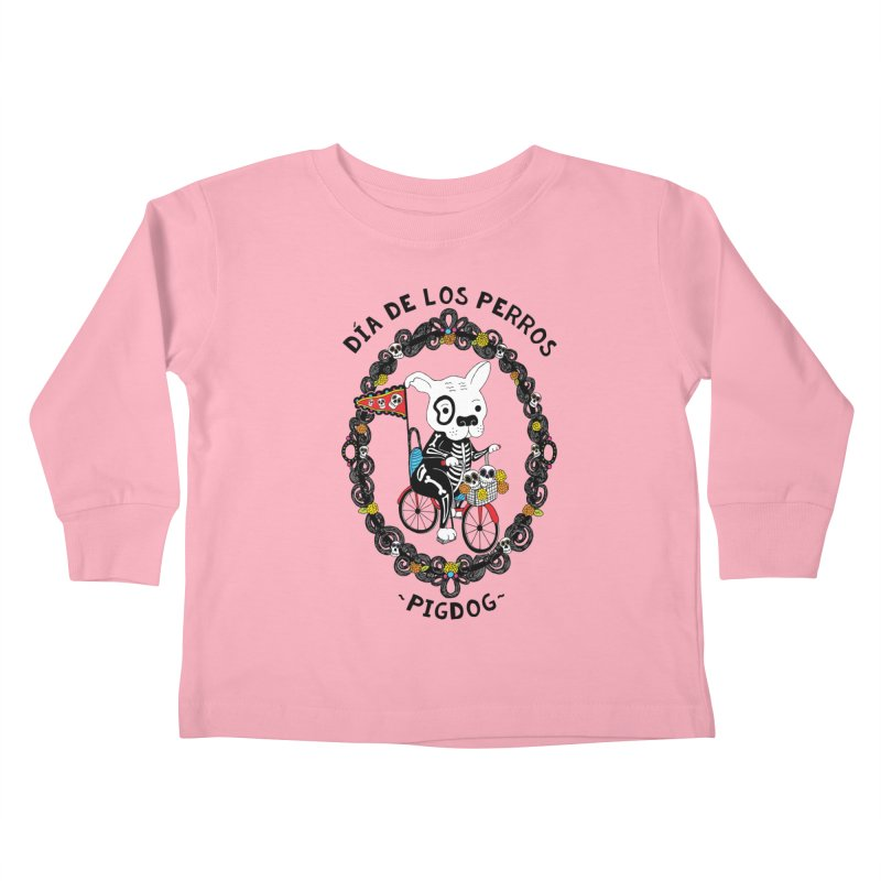 Day of the Dogs Kids Toddler Longsleeve T-Shirt by Pigdog