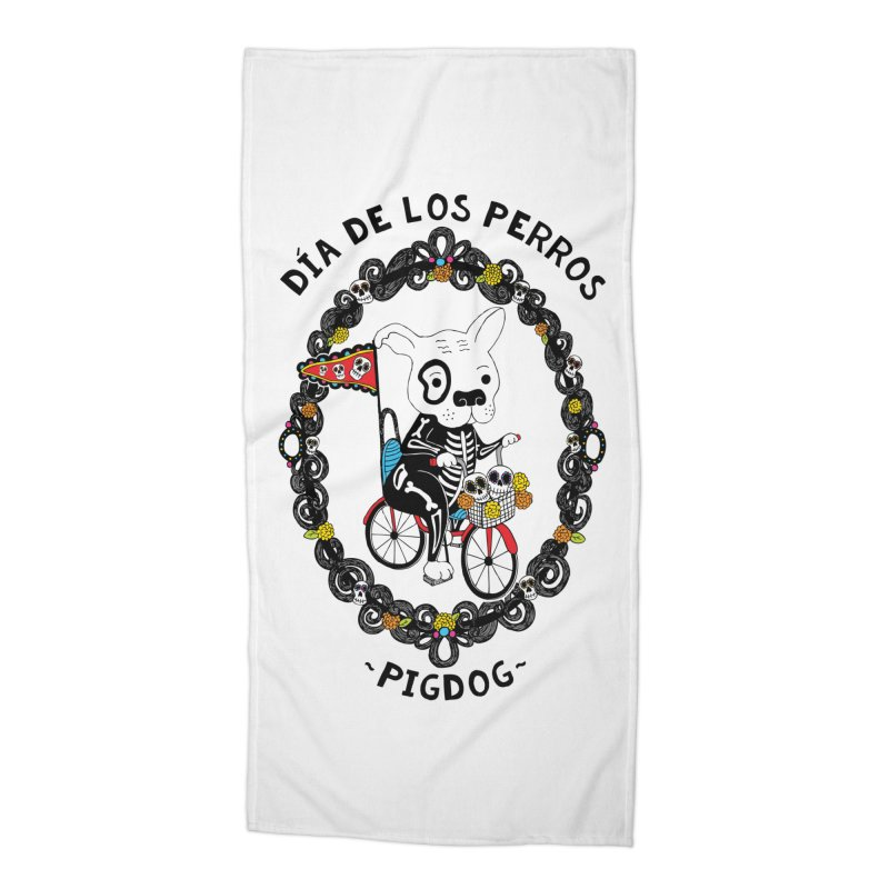 Day of the Dogs Accessories Beach Towel by Pigdog