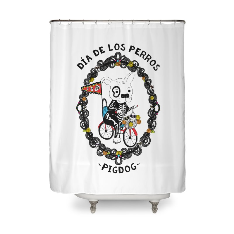 Day of the Dogs Home Shower Curtain by Pigdog