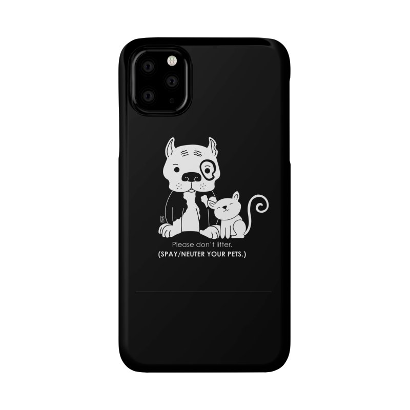 Don't Litter Accessories Phone Case by Pigdog