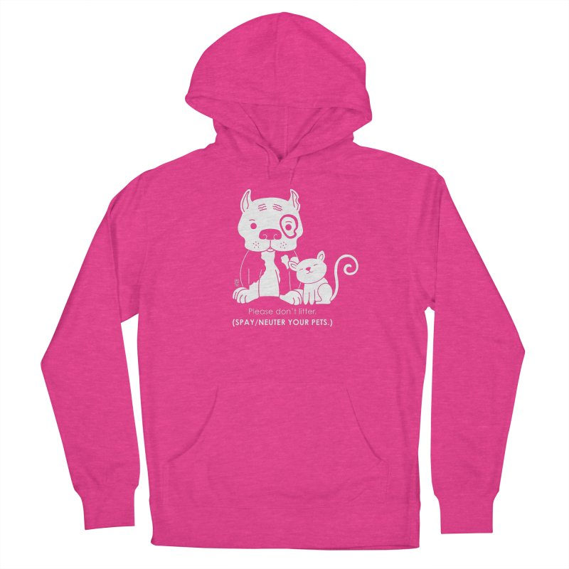 Don't Litter Men's French Terry Pullover Hoody by Pigdog