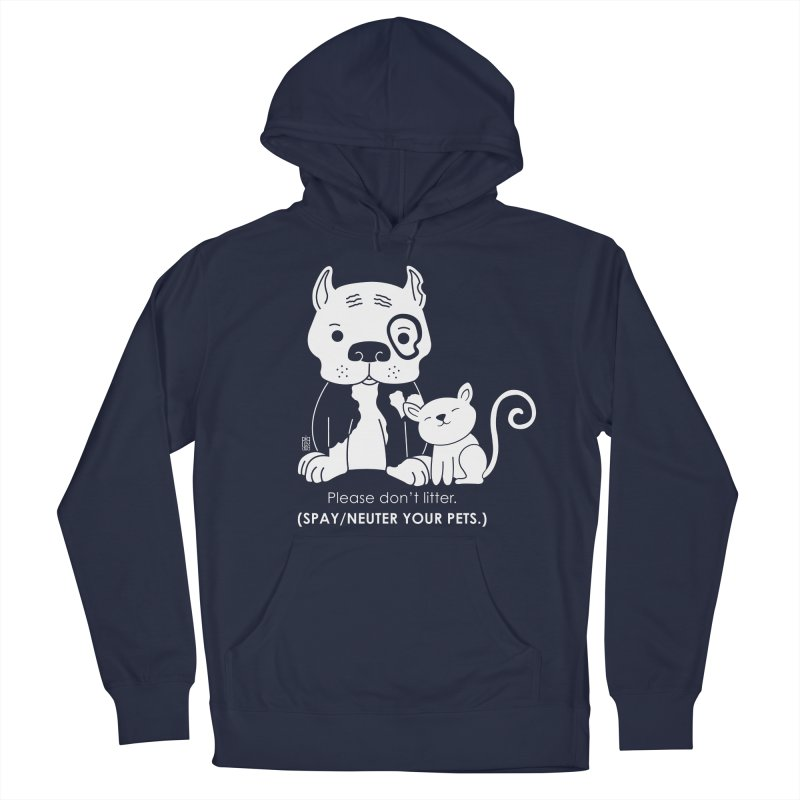 Don't Litter Women's French Terry Pullover Hoody by Pigdog