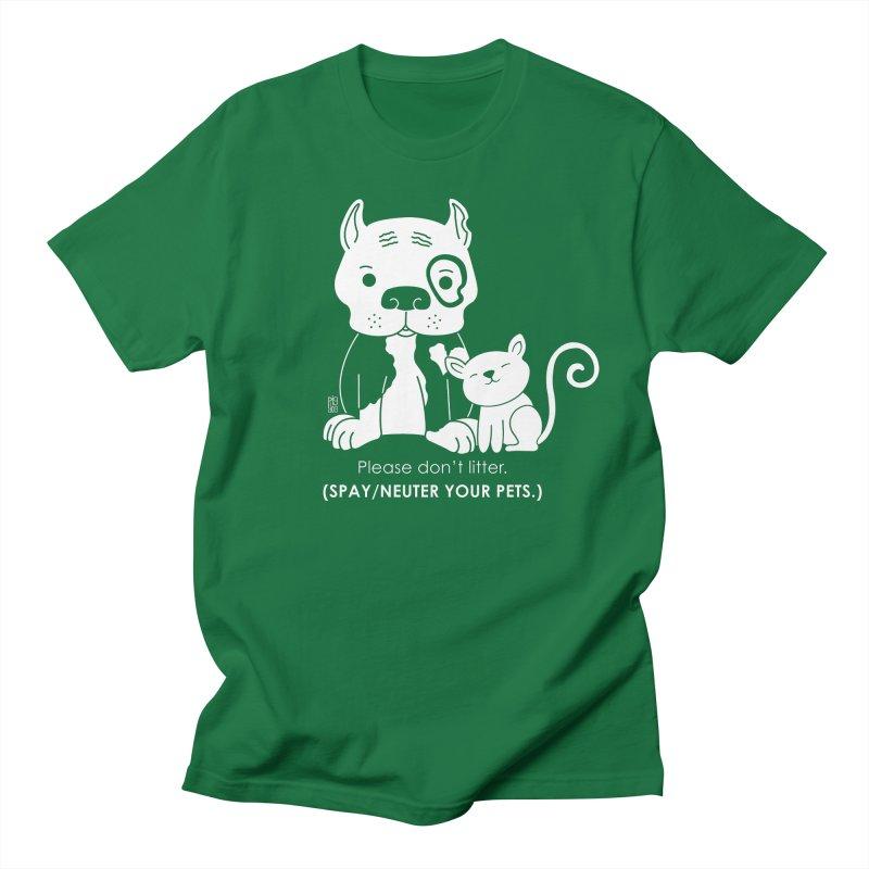 Don't Litter Men's T-Shirt by Pigdog