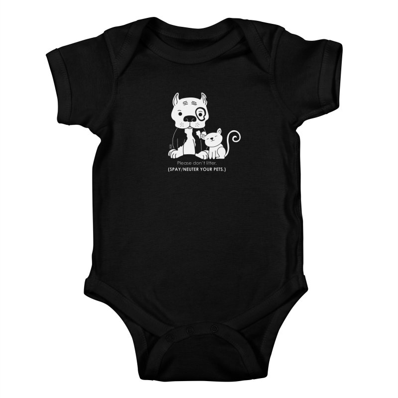 Don't Litter Kids Baby Bodysuit by Pigdog