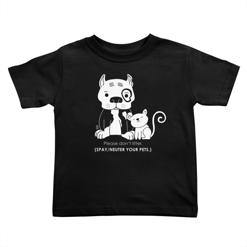 Don't Litter Kids Toddler T-Shirt by Pigdog