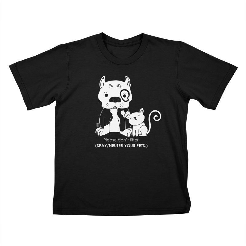 Don't Litter Kids T-Shirt by Pigdog