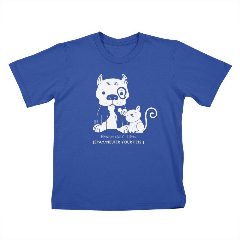 Don't Litter Kids T-shirt by Pigdog