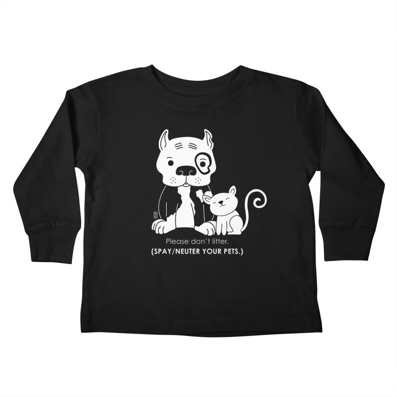 Don't Litter Kids Toddler Longsleeve T-Shirt by Pigdog