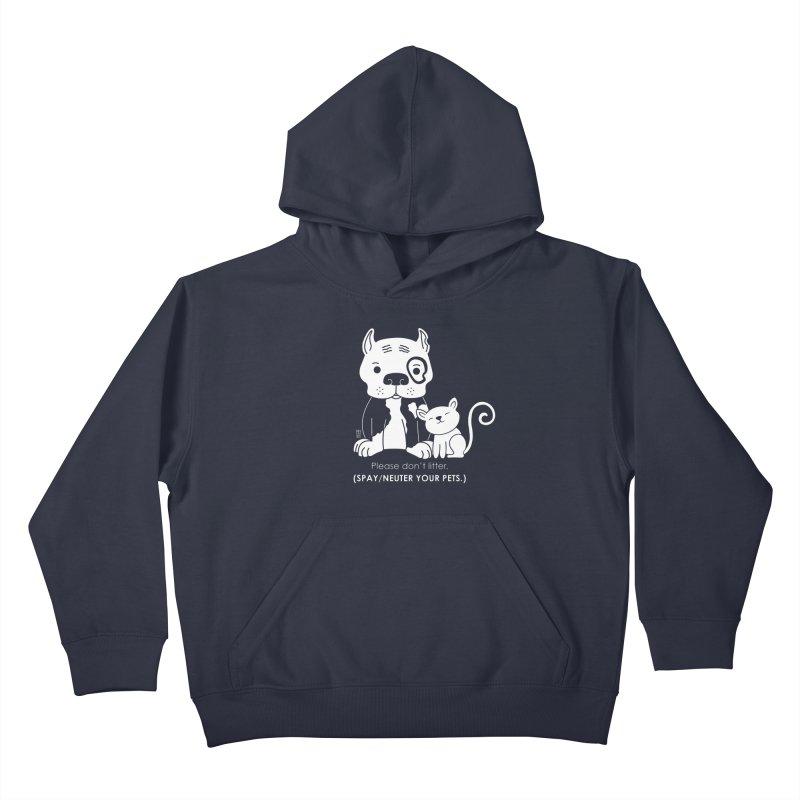 Don't Litter Kids Pullover Hoody by Pigdog