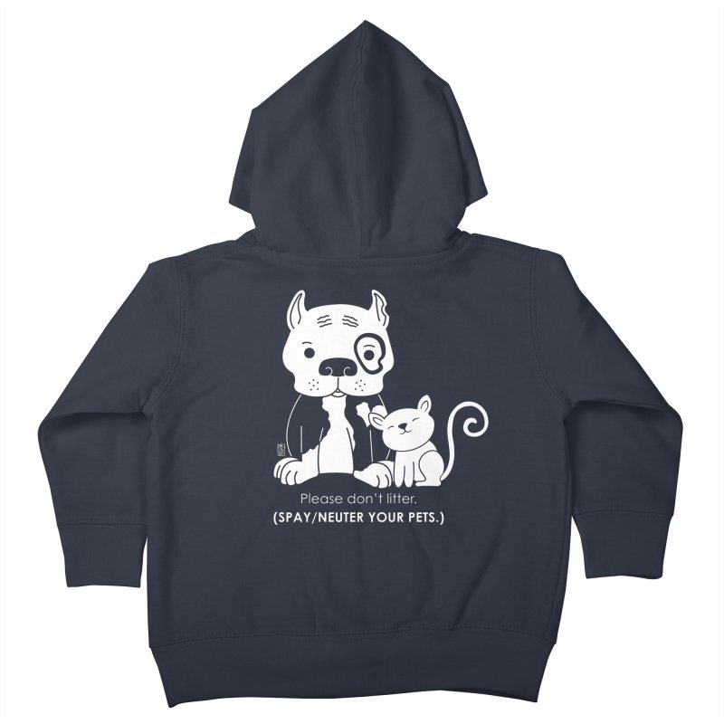 Don't Litter Kids Toddler Zip-Up Hoody by Pigdog